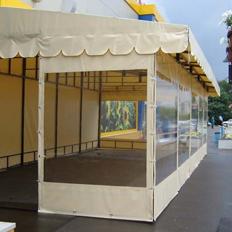 Летние площадки кафе с мягкими окнами в Казани