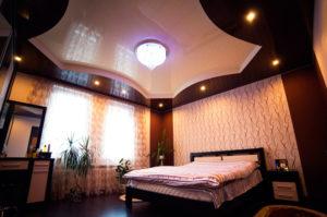 Двухуровневые натяжные потолки в Казани