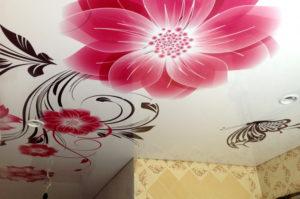 Фотопечать на натяжных потолках в Казани