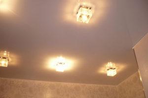 Сатиновые натяжные потолки в Казани