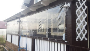Панорамные мягкие окна из ПВХ в Казани